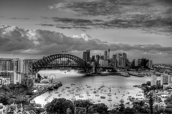 The City #2- A Study In Black & White - The HDR Experience by Philip Johnson