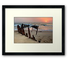 Red Dawn • Dicky Beach • Queensland Framed Print