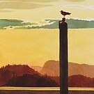 """Orcas Island Sunset"" Watercolor by Paul Jackson"