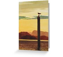 """""""Orcas Island Sunset"""" Watercolor Greeting Card"""