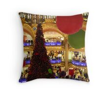Galeries Lafayette Christmas decorations Throw Pillow
