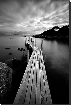 The Jetty II (in B&W) by Garth Smith
