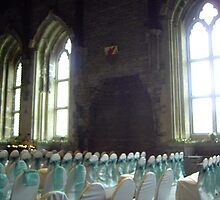 Caerphill Castle windows in main hall being used for weddings... by anaisnais