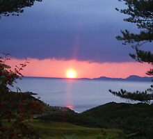 Sunset over Skye by sastro
