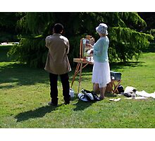 Artist and Admirer Photographic Print