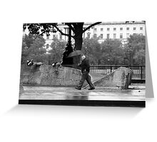 Scramble & Hide - The Man with the Purposeful Stride! Greeting Card