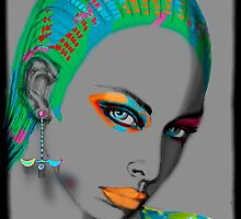 portrait series-last one- funky woman  by Marilyns
