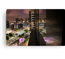 Reflections on Melbourne Docklands Canvas Print