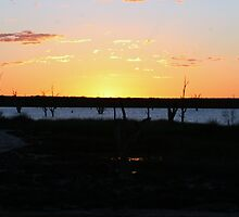 Sunset Barmera South Australia by Robyn Jolly