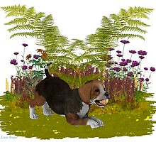 April Puppy .. playing in the garden by LoneAngel