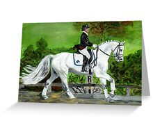 Dressage Horse I Portrait Greeting Card