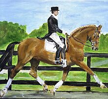 Dressage Horse II Portrait by Oldetimemercan