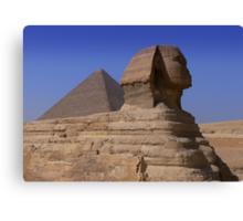 Pyramid and Sphynx Canvas Print