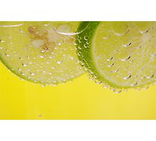 Slice of Lime Photographic Print