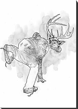 Deer God (Save Us) - Part 3 - Gray Wash by matthewdunnart
