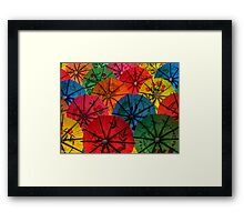 RIOT IN COLORS Framed Print