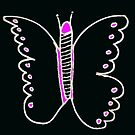 Night Butterfly with a Touch of Pink by KazM