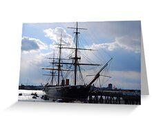 HMS Warrior, Portsmouth Greeting Card