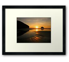 Cornwall: Patterns in the Sunset Framed Print