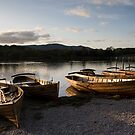 Boats at rest by Jon Tait