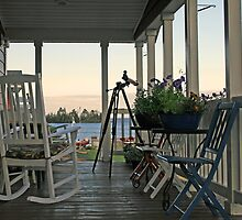chairs on porch by Lynne Prestebak