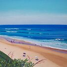 View to Bar Beach, Newcastle, NSW, Australia by Carole Elliott
