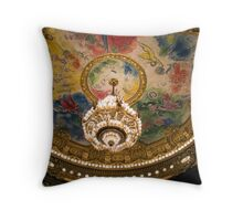 Ceiling painted by Marc Chagall - Opera Garnier Throw Pillow