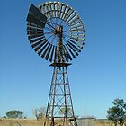 Windmill in the Northern Territory. by Liz Worth