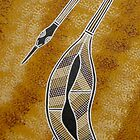 Brolga Dreaming by Australian Aboriginal Artist David Williams by aboriginalart