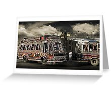 (catching) The Bus #0301 Greeting Card