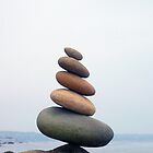 Five Stones Leaning by tom j deters
