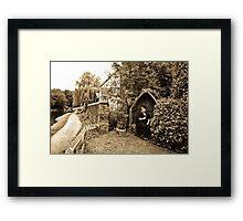 Canalside Framed Print