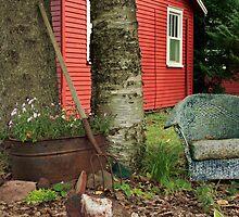 backyard decorations by Lynne Prestebak