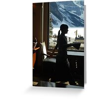A Work Space ~ Lake Louise Window Series Greeting Card