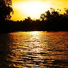 Murray River Sunset by DSPhotographics