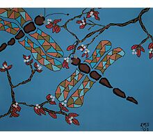 Dragonflies and Cherry Blossoms Photographic Print