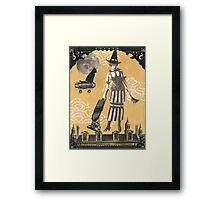 Steampunk Witch Framed Print