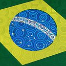 brazilian flag in a tambourine by momarch