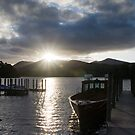 Sunset over Derwent Water by Jon Tait