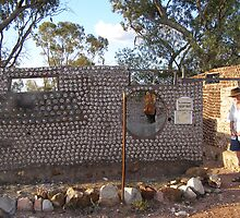 'THE BOTTLE HOUSE!, Lightning Ridge N.S.W. by Rita Blom