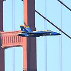 Blue Angels No.1 screaming across the Golden Gate Bridge by Wing Tong