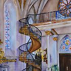 Loretto Chapel Staircase - Santa Fe, NM by Joy Skinner