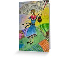 Colour Blown Greeting Card