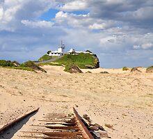 Nobbys' Rail Exposure - Newcastle NSW Australia by Bev Woodman
