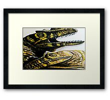 shattered glass dragons Framed Print