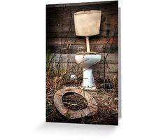 Atmospheric Toilet Cabin Greeting Card