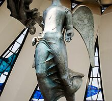 angels of brasilia's metropolitan catedral by momarch