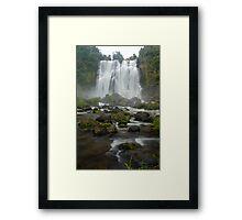Marokopa falls, Waikato, New Zealand Framed Print