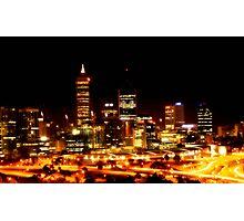 Perth City at Night - Print Photographic Print