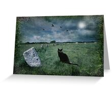 Cornish Black Cat Greeting Card
